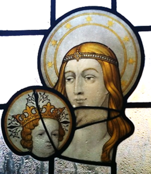 Æthelberht II of East Anglia - St. Ethelbert with Christ, from St. Ethelbert's Church, Alby, Norfolk