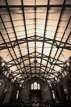 Saint George's Church, Singapore - The church's timber roof trusses.