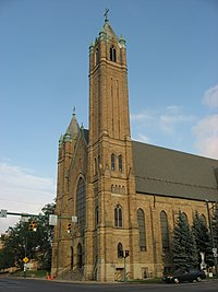 St. Raphael's Catholic Church in Springfield, tower and front.jpg