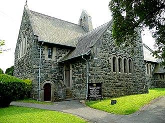 Talybont, Bangor - Image: St . Cross church, Tal y bont geograph.org.uk 1393624