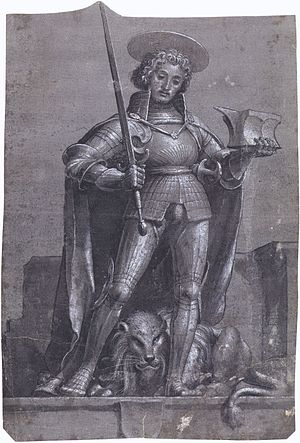 St Adrian, by Hans Holbein the Younger
