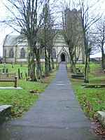St Margaret's Church, Hawes, Path