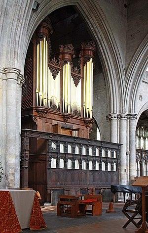 King's Lynn Minster - Image: St Margaret, King's Lynn, Norfolk Organ geograph.org.uk 1501351