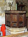 St Mary, Thenford, Northamptonshire - Pulpit - geograph.org.uk - 826562.jpg