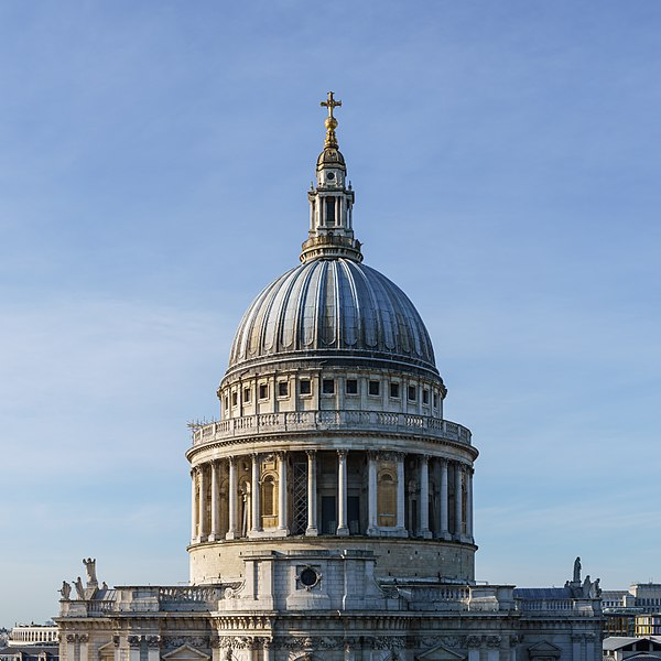 File:St Paul's Cathedral Dome from One New Change - Square Crop.jpg