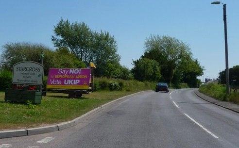 Starcross , The Strand, UKIP Poster and Starcross Sign - geograph.org.uk - 1345072