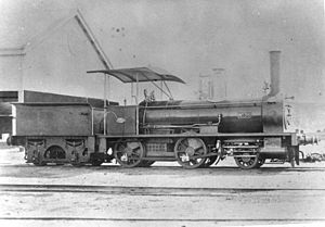 Queensland A10 Ipswich class locomotive - Image: State Lib Qld 1 69723 A10 class steam locomotive no. 36, built at Ipswich workshops in 1877