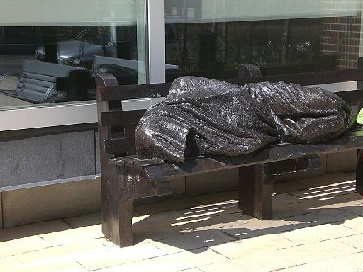 Statue of Christ the Homeless, Regis College, Toronto