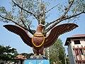 Statue of Garuda at Manjulal, Guruvayur, Kerala - 20110410.jpg