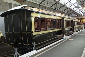 British Royal Train - Queen Victoria's Great Western Railway saloon of 1897 in Swindon