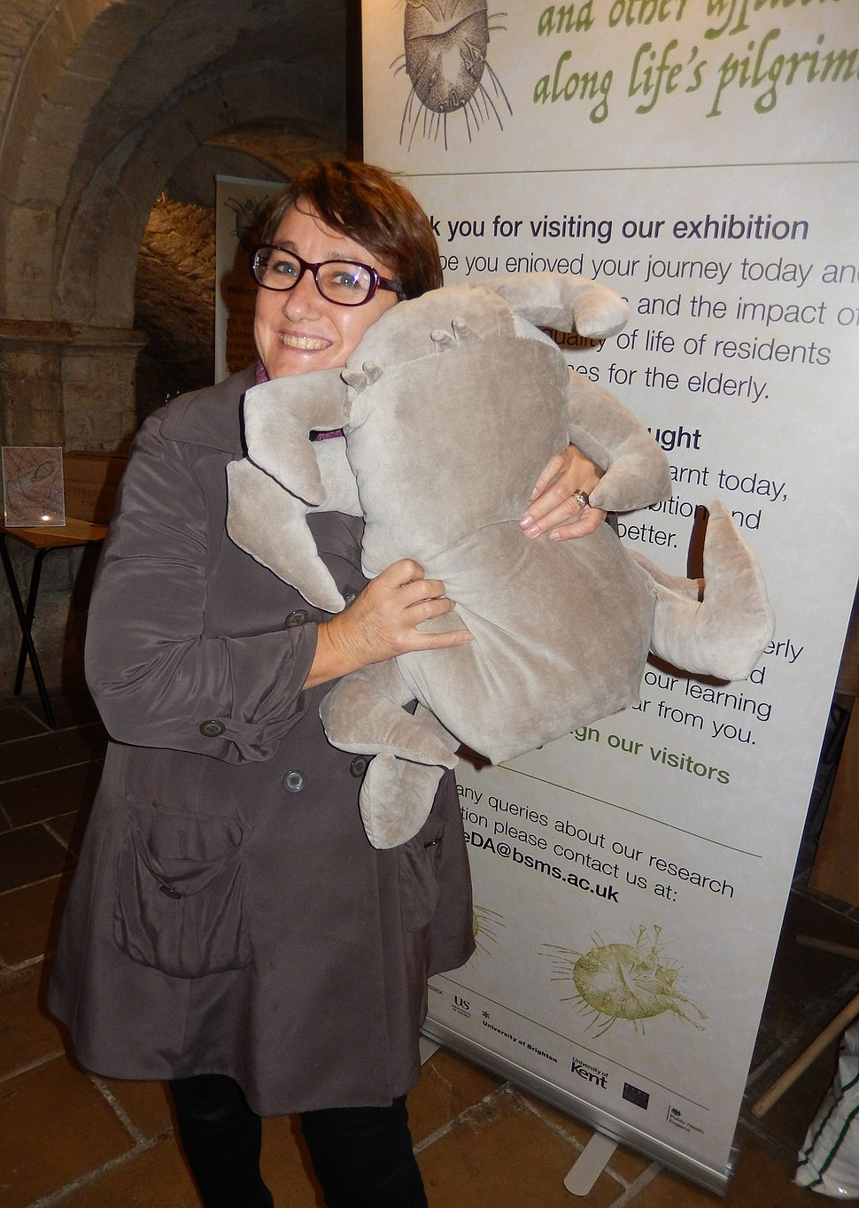 Stefania Lanza and her soft toy Scabies Mite