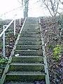 Steps leading up railway embankment - geograph.org.uk - 1164970.jpg