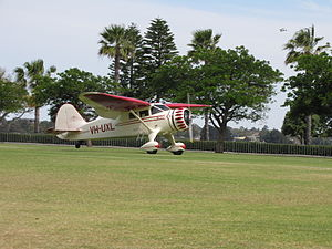 Stinson SR-8C Reliant at the SAAA Langley Park Fly-in October 2011 (1).jpg