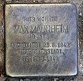 Stolperstein Calvinstr 15 (Moabi) Max Mannheim.jpg