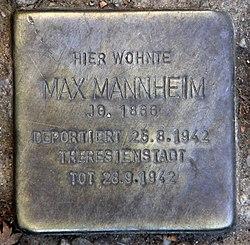 Photo of Max Mannheim brass plaque