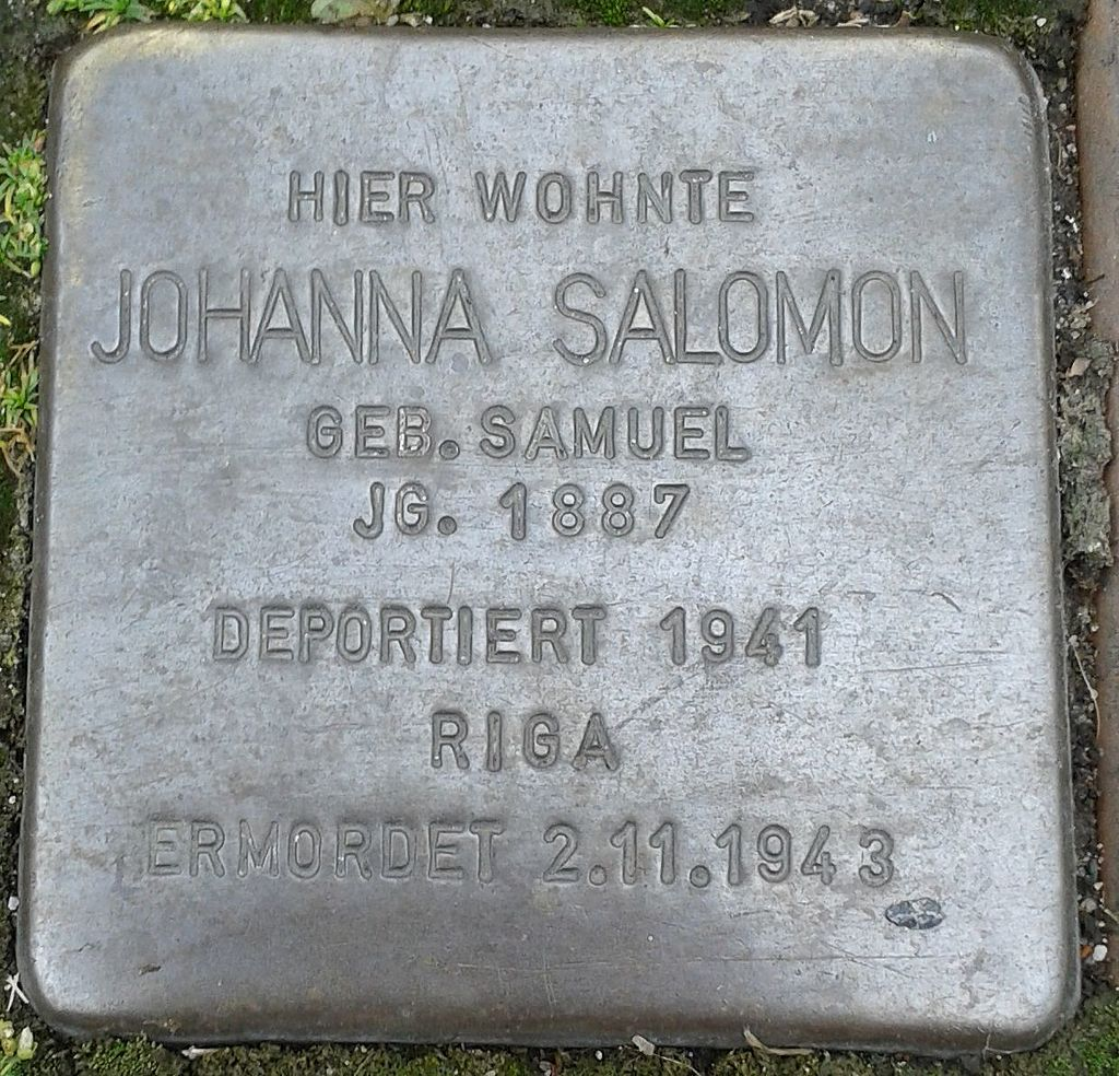 Stolperstein Drensteinfurt Hammer Straße Johanna Salomon