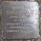 Stolperstein für Franz Krakat