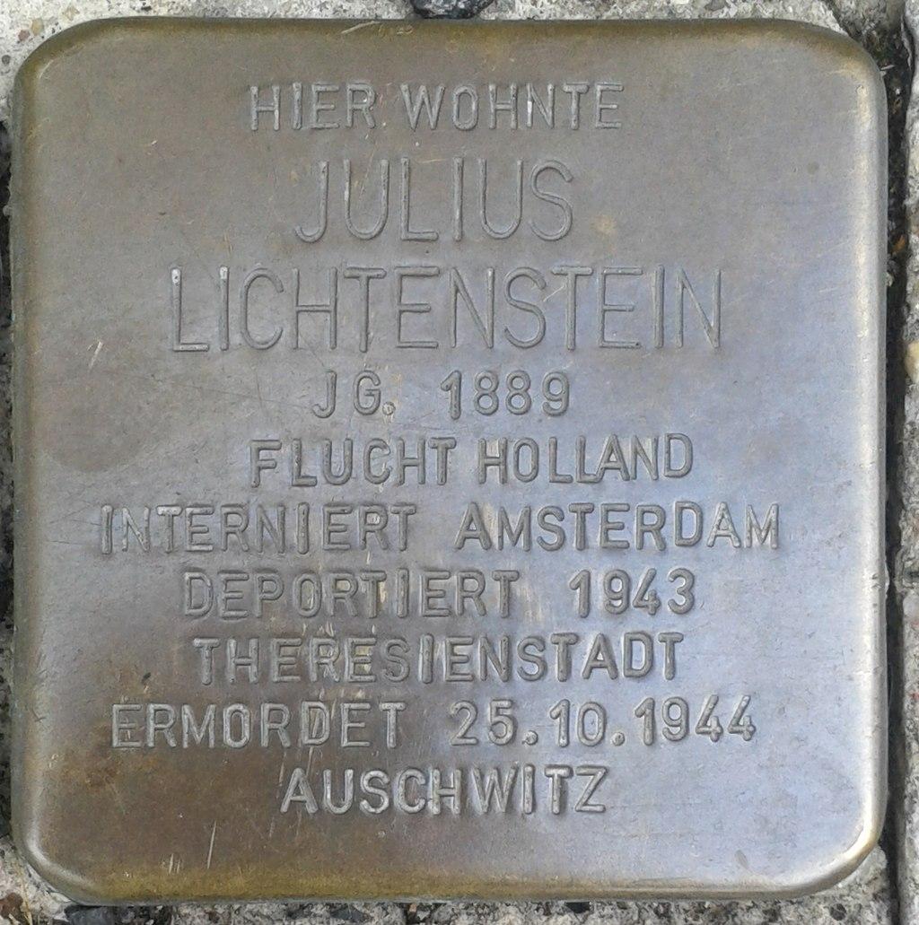 Stolperstein Selters Bahnhofstraße 18 Julius Lichtenstein