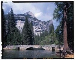 Stoneman Bridge, Spanning Merced River on Stoneman Crossover Road, Yosemite Village, Mariposa County, CA HAER CAL,22-YOSEM,16-13 (CT).tif