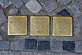 Stralsund, Ossenreyerstraße, Stolpersteine LESSER, COHN, COHN (2012-05-12), by Klugschnacker in Wikipdia.jpg