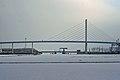 Stralsund, Strelasund mit Ziegelgrabenbrücke und Rügenbrücke (2012-02-05), by Klugschnacker in Wikipedia.jpg