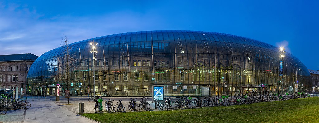 Strasbourg Railway Station at Night, Alsace, France - Diliff