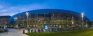 Strasbourg - Image: Strasbourg Railway Station at Night, Alsace, France Diliff