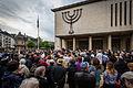 Strasbourg synagogue de la Paix rassemblement silencieux attentat Bruxelles 26 mai 2014.jpg