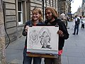 Street Cartoonist on the Royal Mile, Edinburgh - geograph.org.uk - 505999.jpg