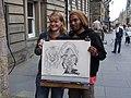 Street Cartoonist on the Royal Mile, Edinburgh - geograph.org.uk - 505999.jpg