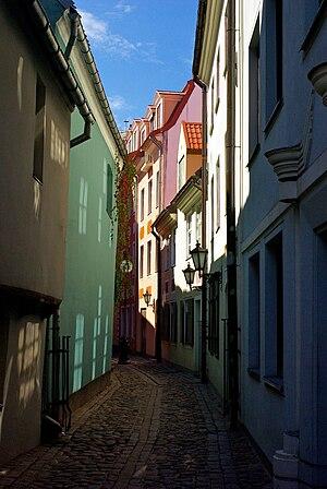 English: Streets of Riga, Latvia. Português do...