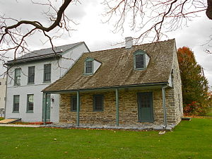 Springettsbury Township, York County, Pennsylvania - Oldest section of Strickler Farmhouse, built c. 1740