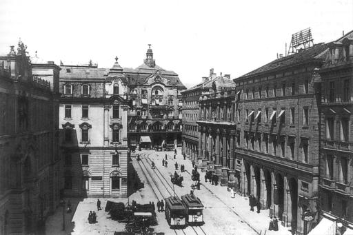 Stuttgart Schlossstraße Bahnhof ca 1900