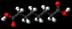 Suberic acid - Image: Suberic acid 3D ball