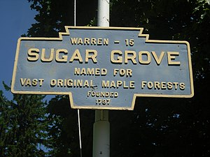 Sugar Grove, Pennsylvania - Keystone Marker for Sugar Grove