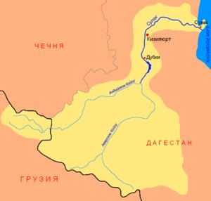 Sulak River - Image: Sulak