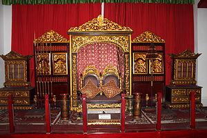 Sultan Mahmud Badaruddin II Museum - The throne of the sultan of Palembang.