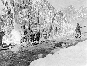 Summit of Mintaka Pass. 1918.JPG