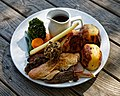 Sunday roast five meat at The Black Lion, High Roding, Essex, England.jpg