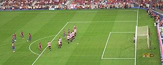 Athletic–Barcelona clásico - A scene from the 2009 Supercopa de España at Camp Nou