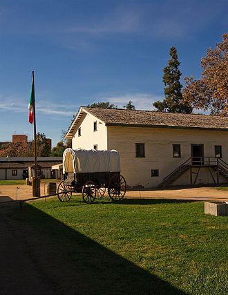 Sacramento, California - Inside the historical Sutter's Fort. Main building housing John Sutter's offices. (2009)