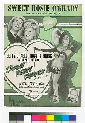 Sweet Rosie O'Grady - The cover of sheet music for the titular song from the movie.