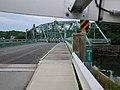 Swing span of Southport Bridge turning to open for sailboat (2012).jpg