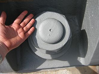 Sydney Harbour Bridge - One of the nuts that hold the bridge on its abutments; this one is at the north end.