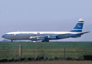 Syrian Air - A Syrian Arab Airlines Boeing 707–400 at Le Bourget Airport. (1975)