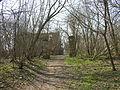 Szreńsk, park, pozostałości po bramie wjazdowej.JPG