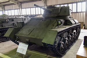T-80 (light tank) in the Kubinka Museum.jpg