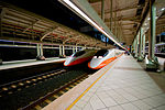 THSR 700T trains at Zouying Station 20080510.jpg