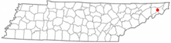 Location of Pine Crest, Tennessee