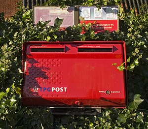TNT N.V. - Old design Royal TPG Post wall box